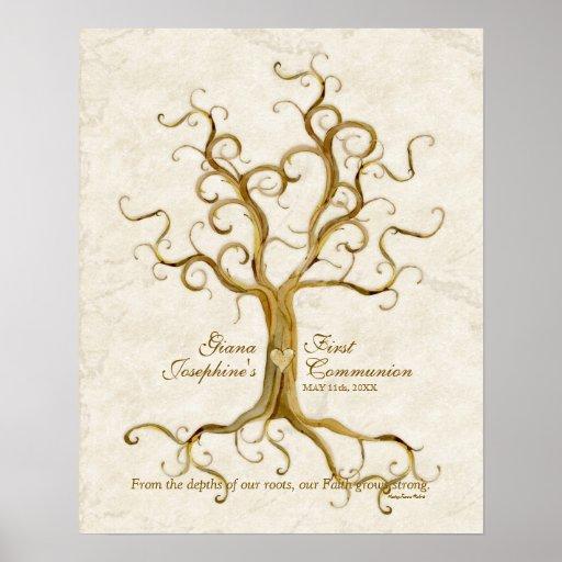 Réception Antiqued par racines d'impression de pou Affiches