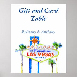 Réception de cadeau et de carte de mariage de Las Poster