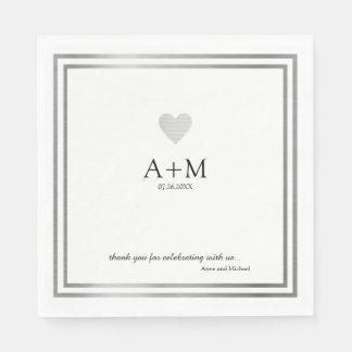 réception de la célébration B/W de mariage de Serviettes En Papier