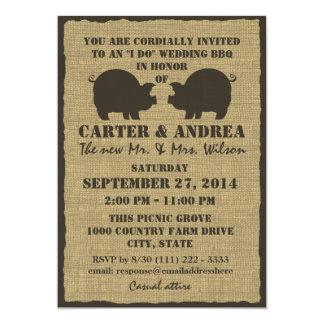 Réception de mariage de BBQ Carton D'invitation 12,7 Cm X 17,78 Cm