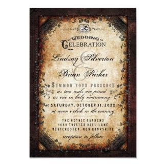 RÉCEPTION de mariage squelettique gothique de Carton D'invitation 12,7 Cm X 17,78 Cm