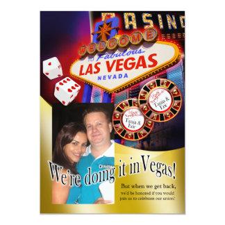 Réception de Tania et d'Éric Las Vegas Carton D'invitation 12,7 Cm X 17,78 Cm