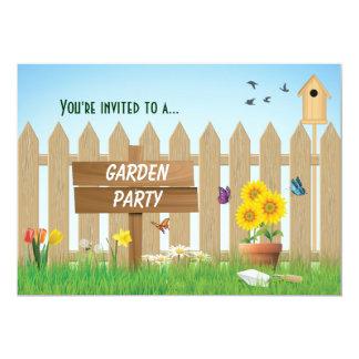 Réception en plein air de jour ensoleillé carton d'invitation  12,7 cm x 17,78 cm