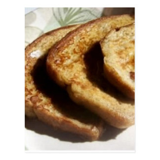 Recette cuite au four de pain grillé français carte postale