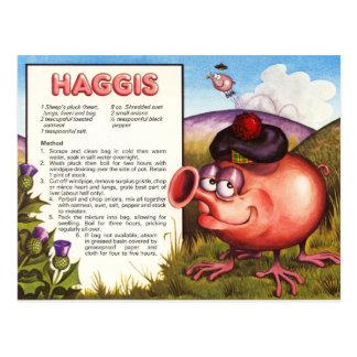 Recette de Haggis Cartes Postales