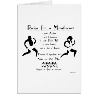 Recette pour une bonne chance de Marathoner Carte De Vœux