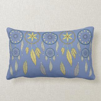 Receveurs rêveurs bleus et jaunes coussins carrés