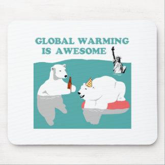 Réchauffement climatique impressionnant tapis de souris