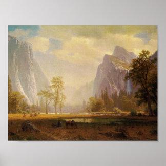 Recherchant la vallée de Yosemite - Albert Poster
