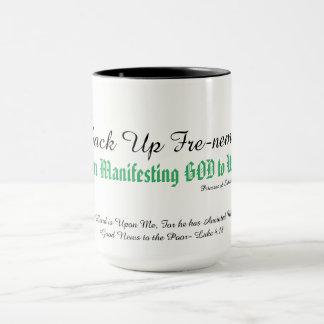 Recherche d'une raison de féliciter un DIEU ? Mug