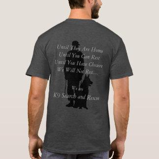 Recherche K9 et délivrance T-shirt
