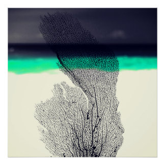 Récif coralien de mer abstraite moderne sur affiches