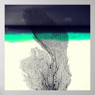 Récif coralien de mer abstraite moderne sur posters