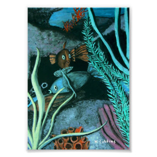 Récif coralien de poissons poster