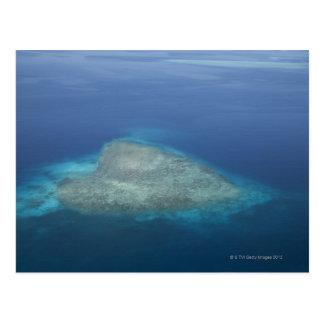Récif coralien en forme de coeur carte postale