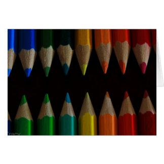 Récolteuse de crayon carte de vœux