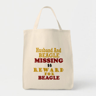 Récompense absente de beagle et de mari pour le sac