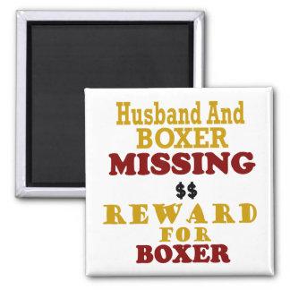 Récompense absente de boxeur et de mari pour le bo aimant pour réfrigérateur