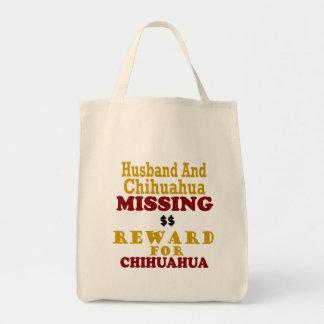 Récompense absente de chiwawa et de mari pour le sac en toile