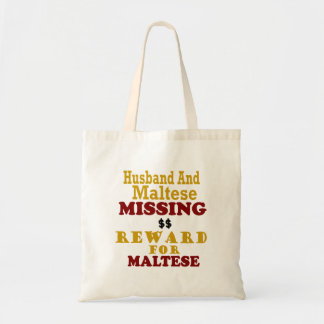 Récompense absente maltaise et de mari pour sac en toile