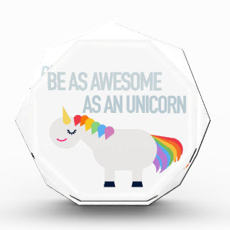 Récompense acrylique d'octogone de licorne