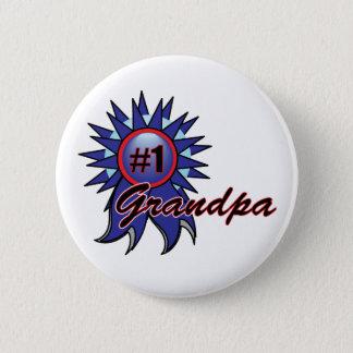 Récompense bleue du grand-papa #1 du numéro un badge