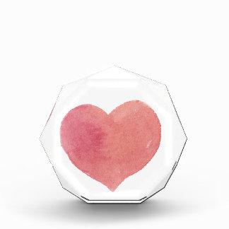 Récompense Coeur peint par rose d'aquarelle