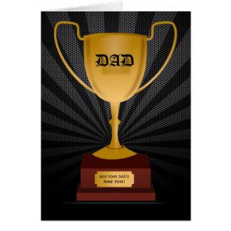 Récompense de trophée de papa, carte de fête des