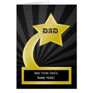 Récompense de trophée de papa d'étoile, carte de