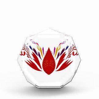Récompense Ethno ROUGE de mandala sur le blanc