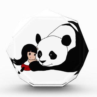 Récompense Fille et panda