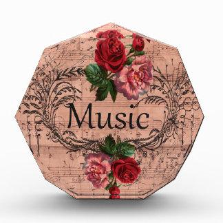 Récompense Floral vintage pour l'amour de la musique