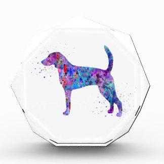 Récompense Fox-hound américain, aquarelle de fox-hound