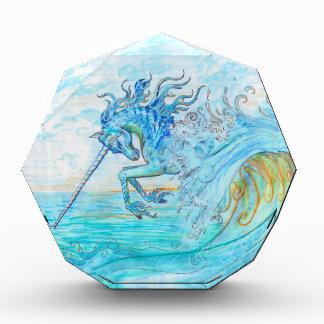 Récompense Hippocampe bleu de cheval de poissons de licorne