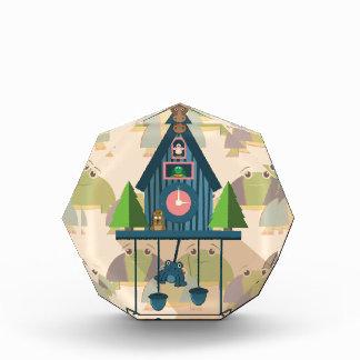 Récompense Horloge de coucou avec le papier peint de tortue