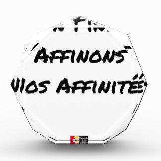 Récompense IN FINE, AFFINONS NOS AFFINITÉS - Jeux de mots