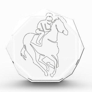 Récompense Ligne continue de course de chevaux de jockey