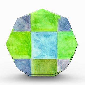 Récompense Motif de bleu et de vert