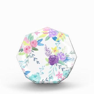 Récompense Motif floral de couleur en pastel d'aquarelle