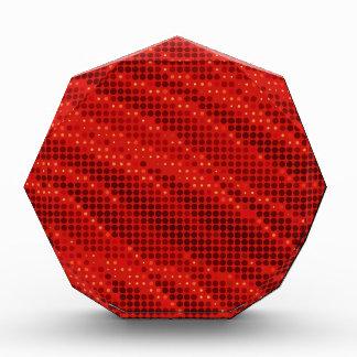 Récompense Motif rouge vibrant de point et de vague