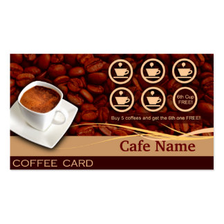Récompenses de café et carte de visite - café
