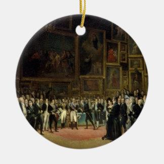 Récompenses de présentation de Charles X aux Ornement Rond En Céramique