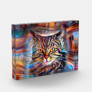 Récompenses En Acrylique À la dérive chez le chat abstrait de révolution de