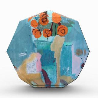 Récompenses En Acrylique Abrégé sur floral impression d'illustrations
