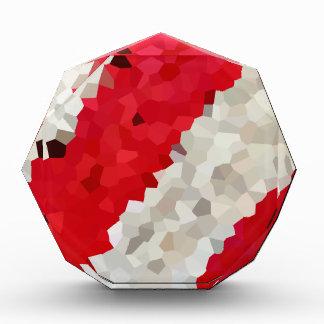 Récompenses En Acrylique Abrégé sur rouge et blanc vacances de sucre de