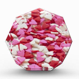 Récompenses En Acrylique Amour blanc rose rouge Valentine d'arrière - plan