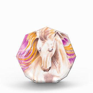 Récompenses En Acrylique Aquarelle andalouse de pourpre de palomino