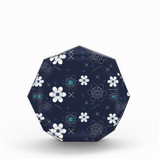 Récompenses En Acrylique art floral bleu de décor