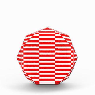 Récompenses En Acrylique Bandes - rouge et blanc