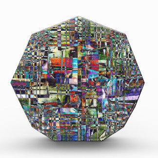 Récompenses En Acrylique Composé chaotique coloré